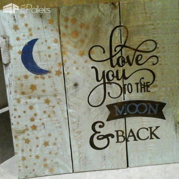 Crafts Out Of Recycled Pallet Wood Pallet Wall Decor & Pallet Painting