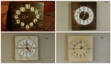 From One Old Pallet To Four Clocks