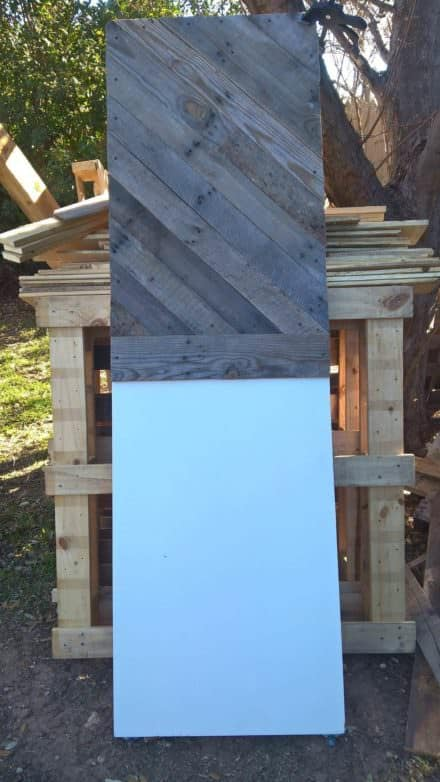 King Sized Pallet Headboard from an Old Door