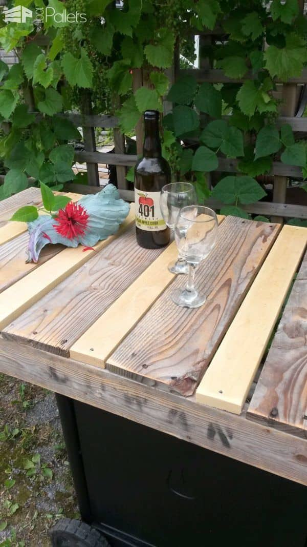 My Old Bbq Remade into a Rustic Serving Cart Lounges & Garden Sets Pallet Desks & Pallet Tables