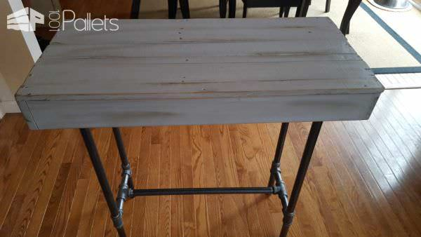 Pallet Console Table Pallet Desks & Pallet Tables