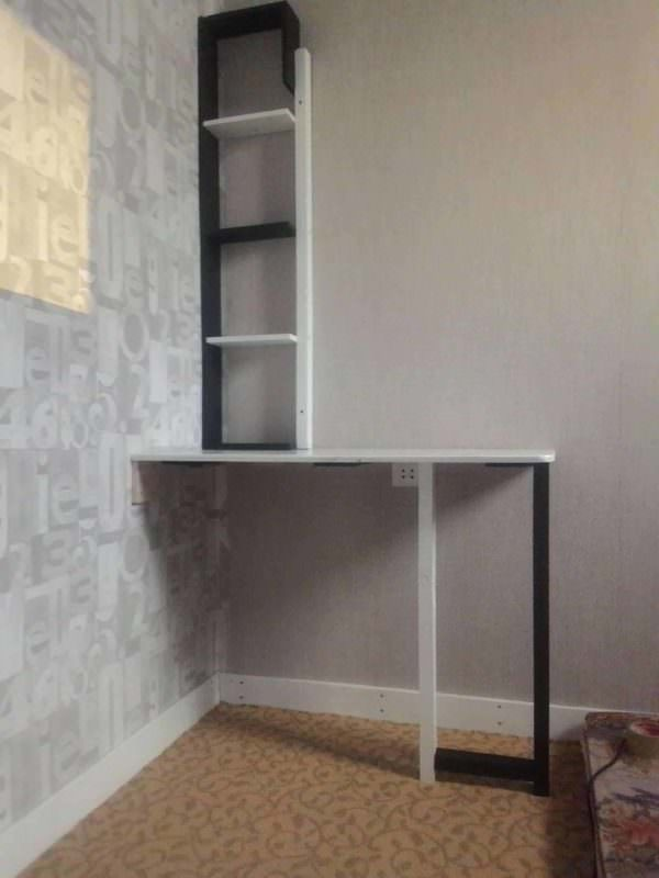 Pallet Corner Desk with Shelf for Bedroom Pallet Desks & Pallet Tables