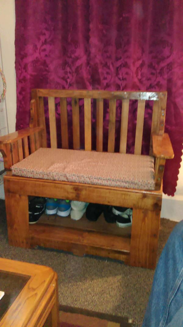 Pallet Shoe Rack Bench Pallet Benches, Pallet Chairs & Stools Pallet Cabinets & Pallet Wardrobes