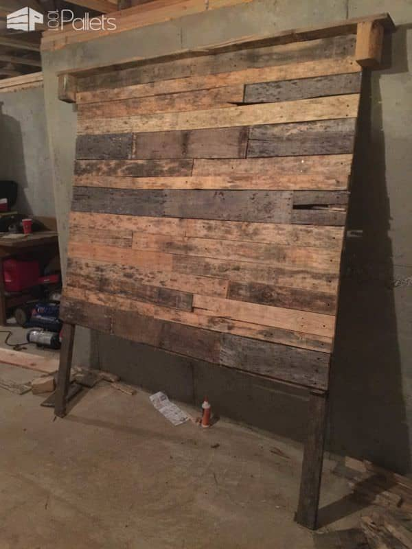 Queen Size Pallet Bed Headboard 1001 Pallets