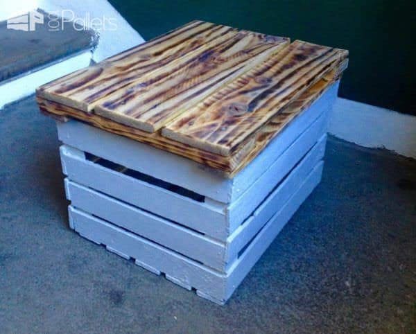 Storage Table Made from a Veg Crate & One Pallet Pallet Boxes & Chests