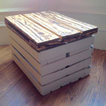 Storage Table Made from a Veg Crate & One Pallet