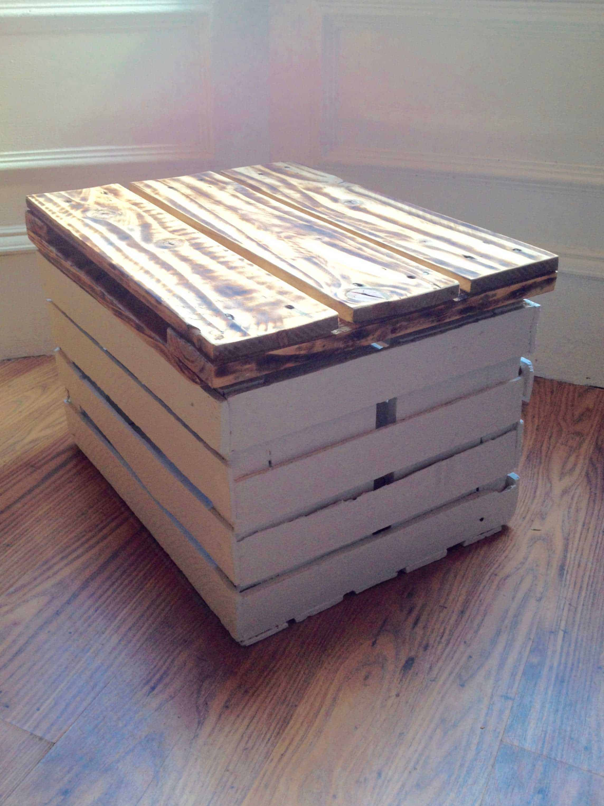 Storage Table Made from a Veg Crate & e Pallet • 1001 Pallets