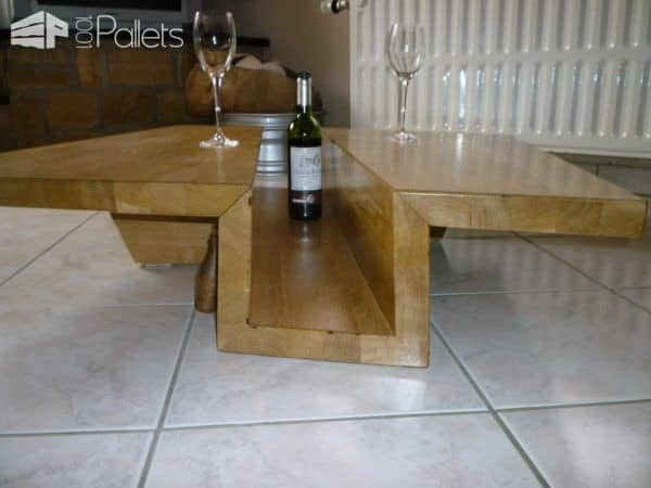 Table basse ch ne massif lamell coll solid glulam oak coffee table pall - Table chene massif huile ...