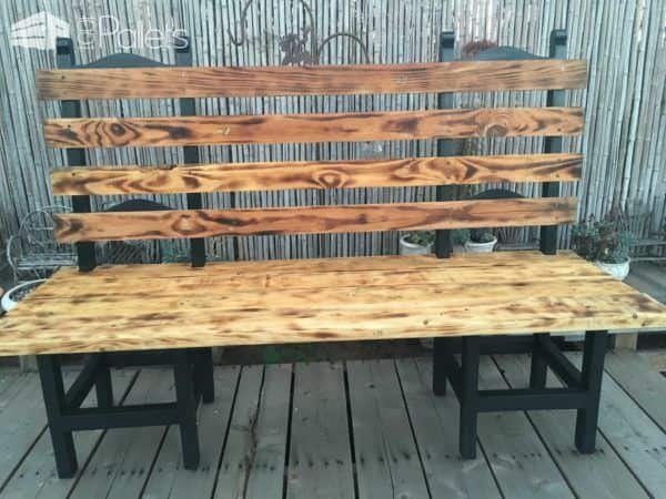 Turning a Couple of Old Chairs in a Bench Pallet Benches, Pallet Chairs & Stools
