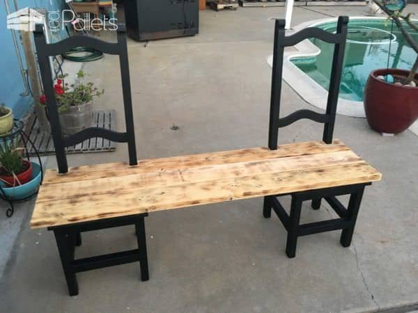 1001pallets.com-turning-a-couple-of-old-chairs-in-a-bench2