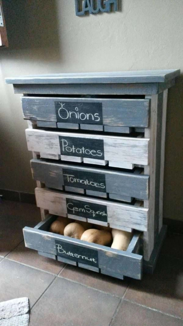 Veggie / Fruit Storage Rack Pallet Cabinets & Wardrobes