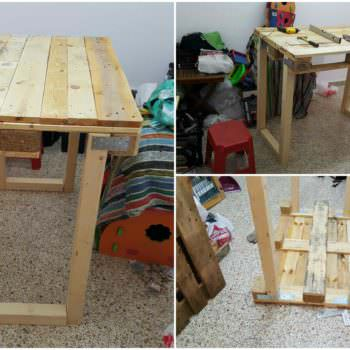 Workbench From Repurposed Euro Pallets