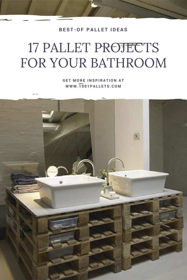 5 Rustic Bathroom Ideas You Can Make With Pallet Wood • 5 Pallets