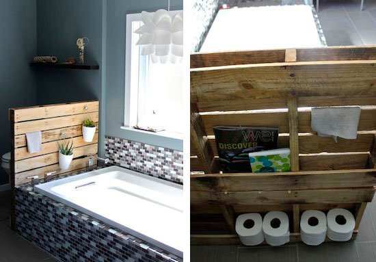 17 Rustic Bathroom Ideas You Can Make With Pallet Wood 1001 Pallets