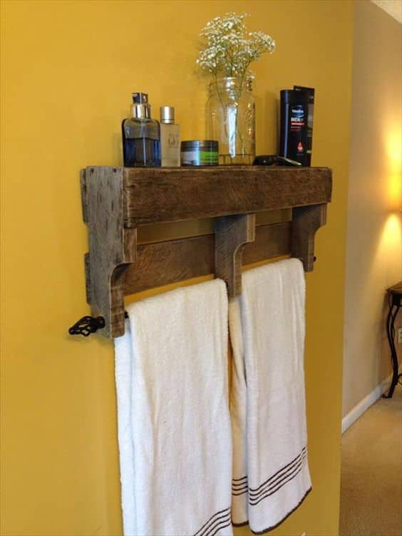 17 rustic bathroom ideas you can make with pallet wood for Bathroom ideas made from pallets
