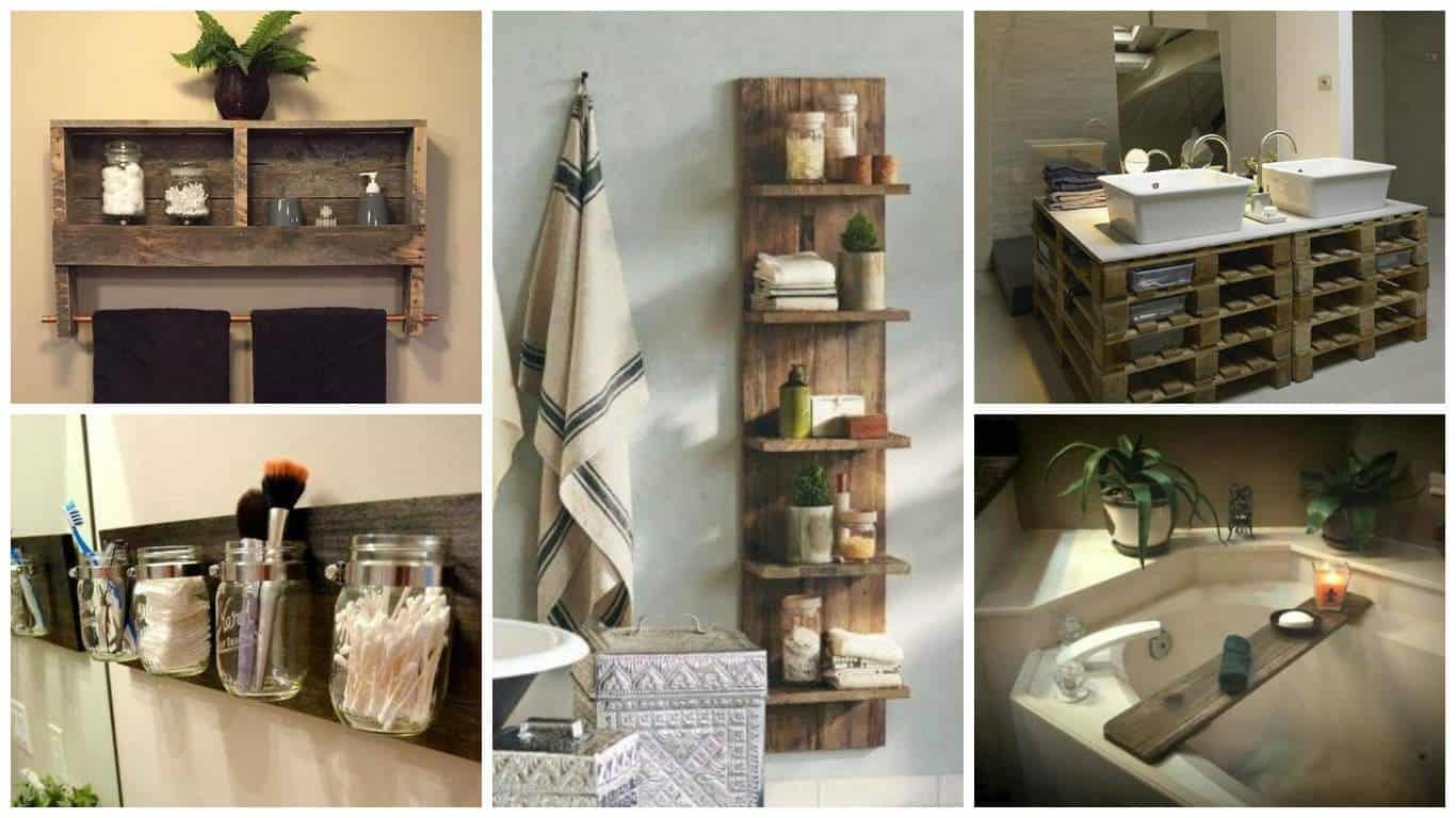 17 pallet projects you can make for your bathroom pallet for Pallet bathroom ideas