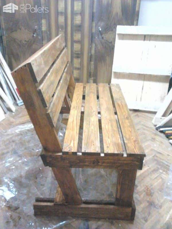 Diy Bench From 2 Pallets 1001 Pallets