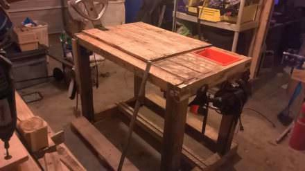 Diy Multi-purpose Pallet Workbench