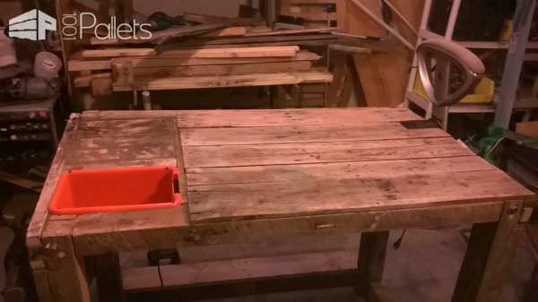 Diy Multi-purpose Pallet Workbench Pallet Desks & Pallet Tables
