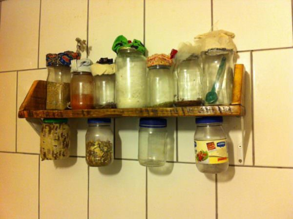 Kitchen Pallet Herbs Shelf Pallet Shelves & Pallet Coat Hangers