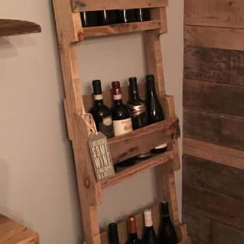 Ladder Style 12 Bottles Wine Rack
