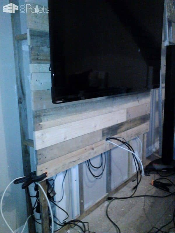 Mur En Bois De Palettes / Entertainment Center Wall Pallet TV Stand & Rack Pallet Walls & Pallet Doors
