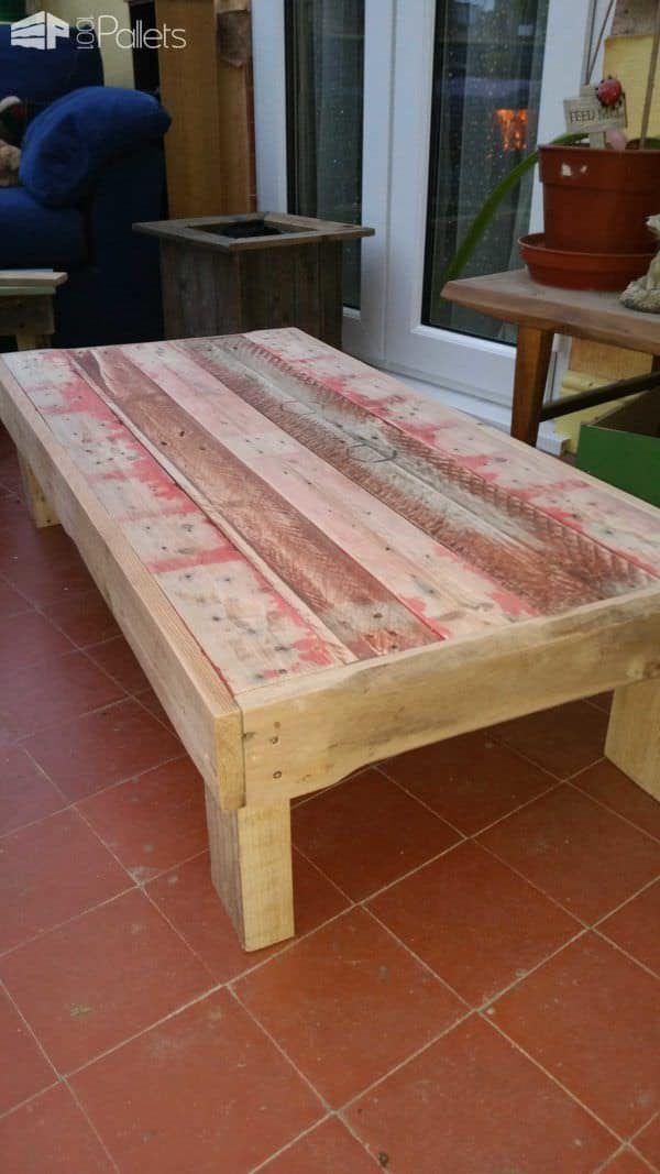 One Pallet Coffee Table Pallet Coffee Tables