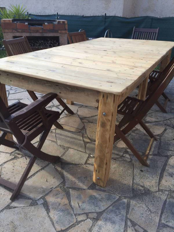 Outdoor Garden Table Pallet Desks & Pallet Tables Pallets in the Garden