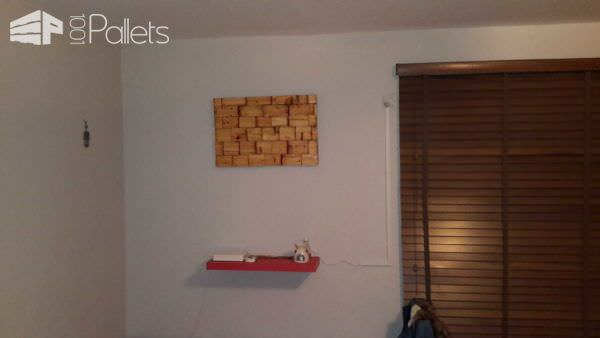 Pallet Blocks Picture Pallet Wall Decor & Pallet Painting