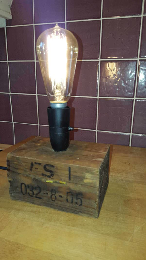 Pallet Lamp from a Pallet Block Pallet Lamps, Pallet Lights & Pallet Lighting