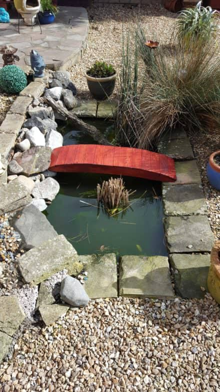 Pond Bridge From Pallet Planks