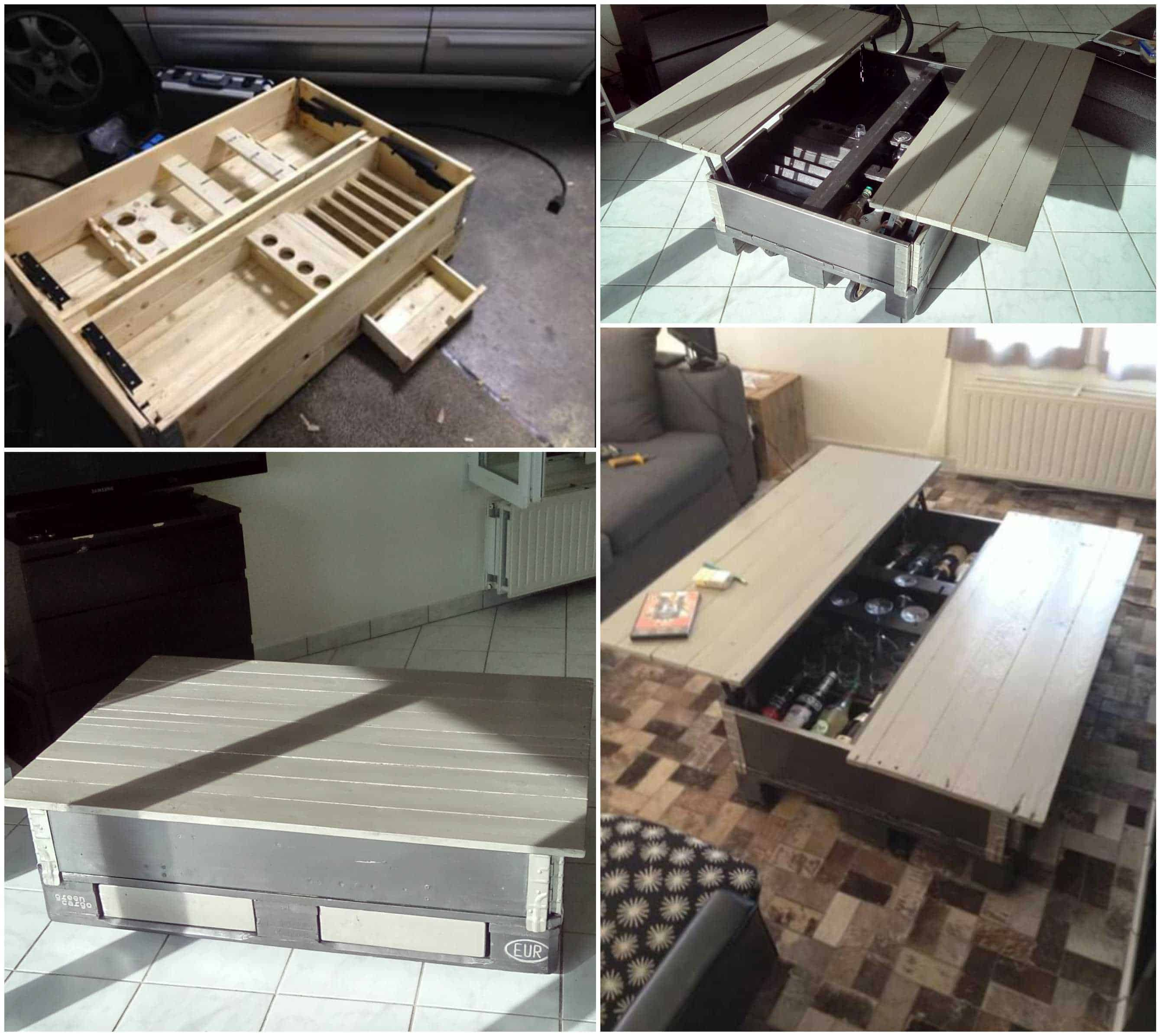Table Basse Multifonctions Multipurpose Pallet Coffee Table