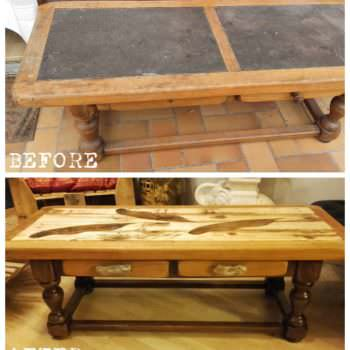 Table Basse Revisitée En Palette / Pallet Coffee Table Makeover