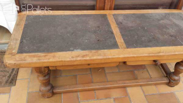 Table Basse Revisitée En Palette / Pallet Coffee Table Makeover Pallet Coffee Tables