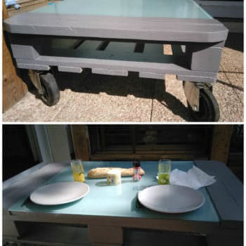 Table De Terrasse V2 / Terrace Table From 2 Pallets