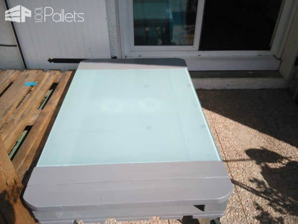 Table De Terrasse V2 / Terrace Table From 2 Pallets Pallet Coffee Tables