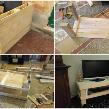 Tv Stand Out of 2 Pallets