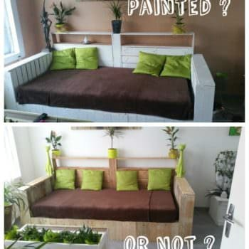 White Pallet Sofa: Do You Prefer It Painted or Not?