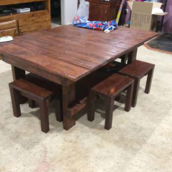Coffee Table & Chairs for the Kids
