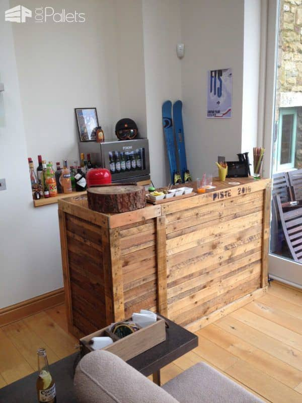 Diy: Pallet Bar Idea DIY Pallet Bars