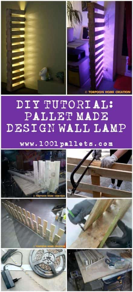 Diy Tutorial: Pallet-made Design Wall Lamp