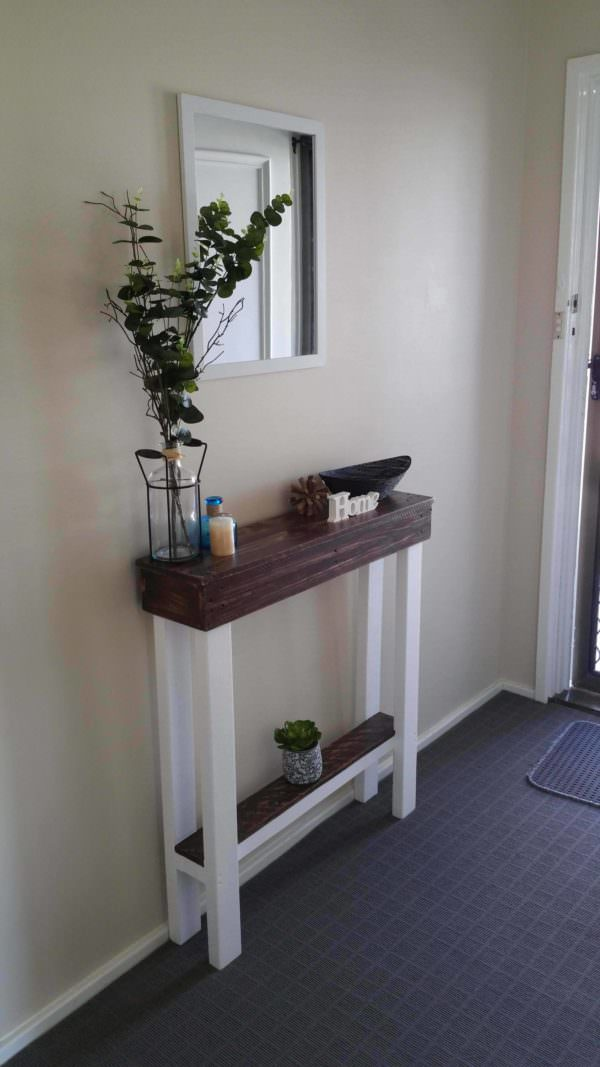 Entry Hallway Table Pallet Desks & Pallet Tables
