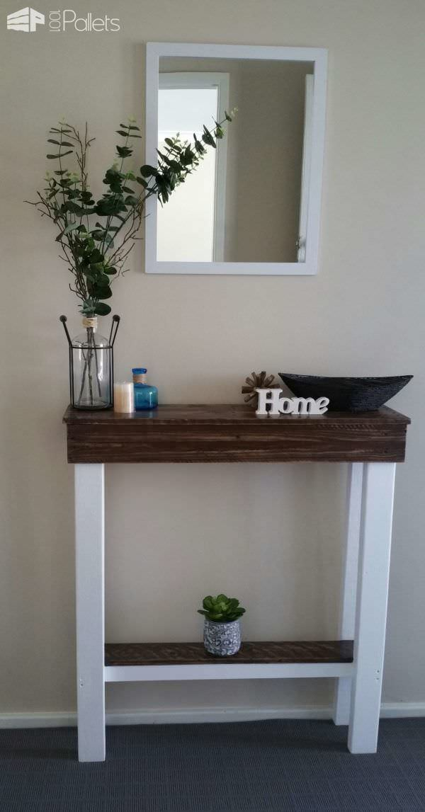 Narrow Foyer Games : Entry hallway table pallets