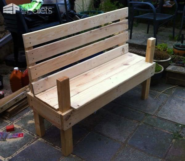 Garden Bench for 10$ & 9 Hours of Work! Pallet Benches, Pallet Chairs & Stools