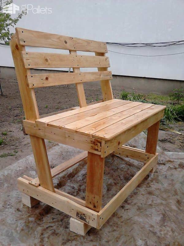 garden furniture from pallets pallet benches pallet chairs stools - Garden Furniture Using Pallets