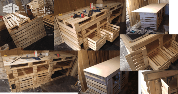 How I Made My Kitchen & Dining Area Out Of Recycled Pallets DIY Pallet Projects