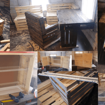 How I Made My Kitchen & Dining Area Out Of Recycled Pallets