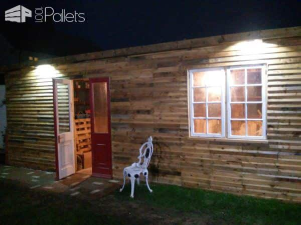 How I Made My Shed from 140 Pallets DIY Pallet Bars Pallet Sheds, Pallet Cabins, Pallet Huts & Pallet Playhouses