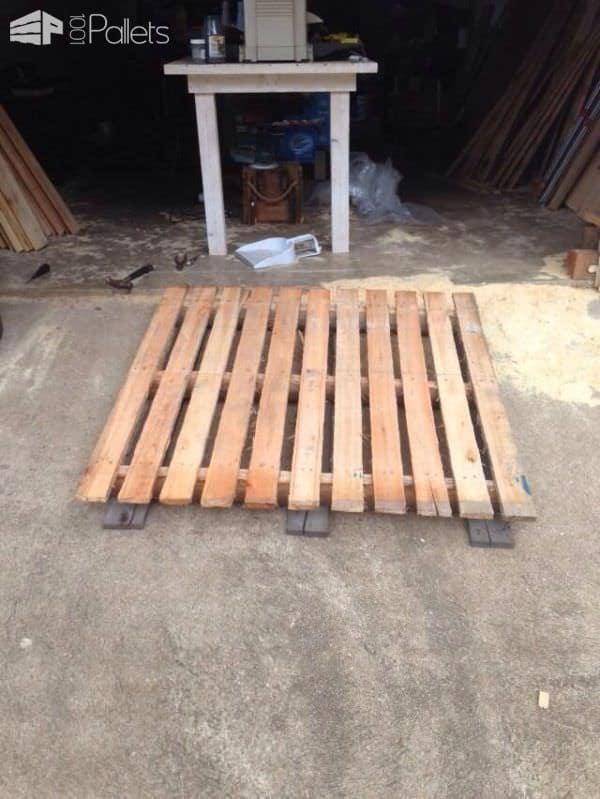 How I Made This Headboard from Pallets DIY Pallet Bed Headboard & Frame