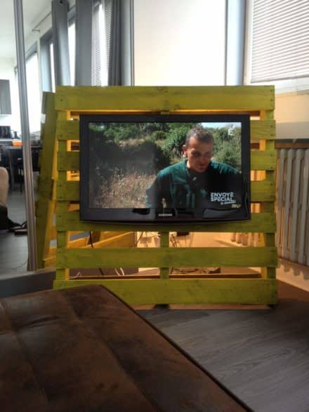 Industrial TV Stand from 1 Pallet & 1 Hour